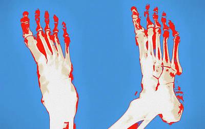 Painting - Human Feet Pop Art by Dan Sproul