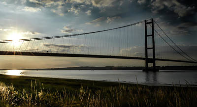 Photograph - Humber Bridge In The Evening by Scott Lyons