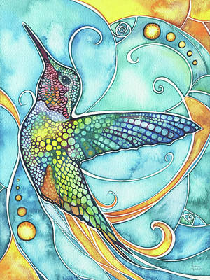 Water Garden Wall Art - Painting - Hummingbird by Tamara Phillips