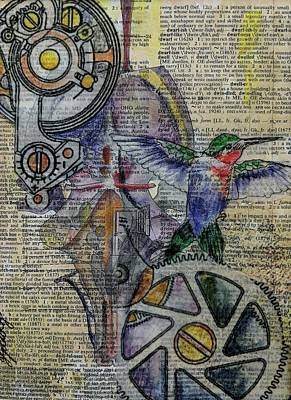 Mixed Media - Hummingbird by Jillian Goldberg