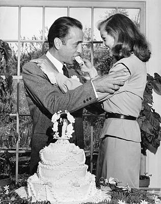 Photograph - Humphrey Bogart & Wife 4lauren Bacall by Ed Clark