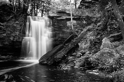 Photograph - Hungarian Falls Black And White 61702 by Rick Veldman