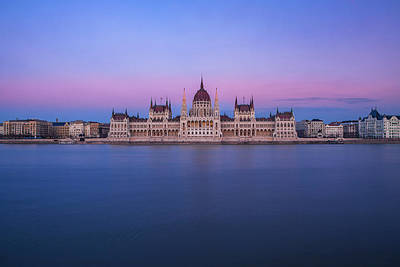 Royalty-Free and Rights-Managed Images - Hungarian Parliament at Dusk by Andrew Soundarajan