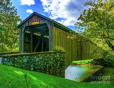 Photograph - Hunsecker's Mill Covered Bridge by Nick Zelinsky