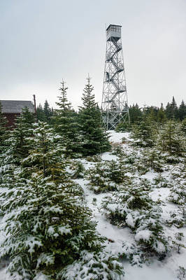 Photograph - Hunter Mountain Fire Tower by Brad Wenskoski