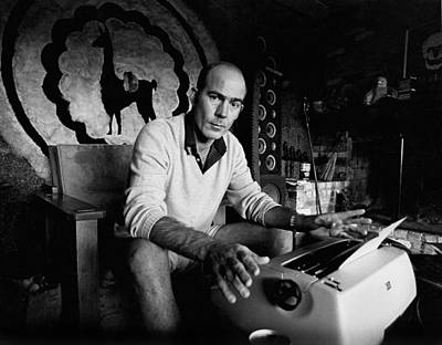 Sitting Photograph - Hunter S. Thompson by Michael Ochs Archives
