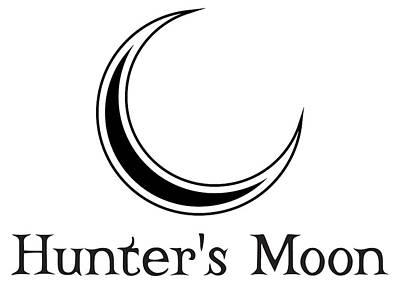 Digital Art - Hunter's Moon - Black by Kristjan Cubranic