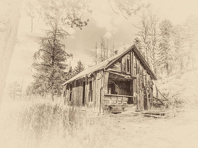Photograph - Hunting Cabin by Jennifer Grossnickle