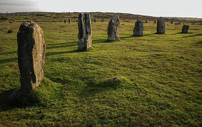 Photograph - Hurlers Stone Circle Minions Bodmin Moor Cornwall by Richard Brookes