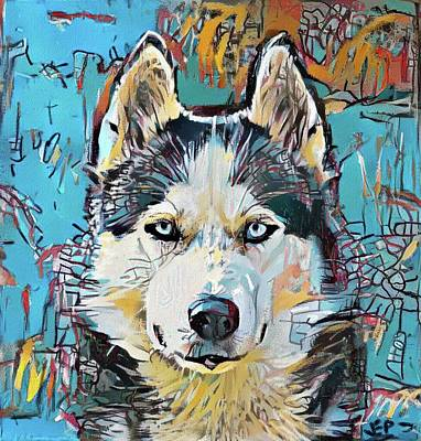 Painting - Husky BSQ by Jann Paxton