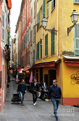 Photograph - Hustle And Bustle In Vieux Nice Old Nice France  by Wayne Moran
