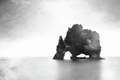 Photograph - Hvitserkur In The Mist by Susan Maxwell Schmidt