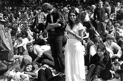 Photograph - Hyde Park Hippies by Evening Standard