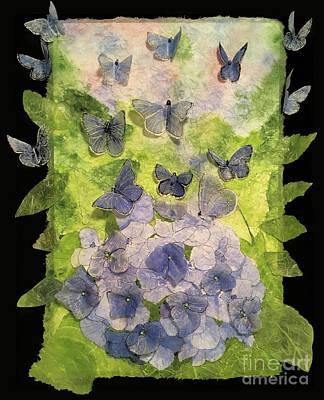 American Milestones - Hydrangea or Butterflies, You Decide 3D by Conni Schaftenaar