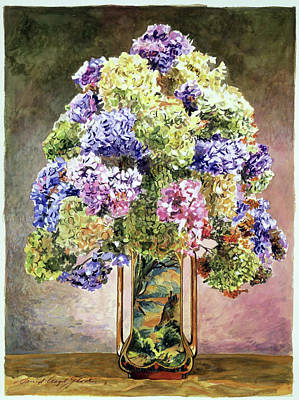 Painting - Hydrangea Still Life by David Lloyd Glover