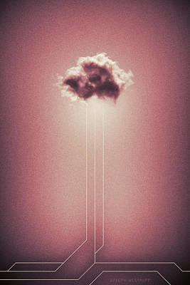 Photograph - Hyetal - Abstract Geometrical Cloud Art by Joseph Westrupp