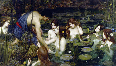John William Waterhouse Wall Art - Painting - Hylas And The Nymphs, 1896 by John William Waterhouse