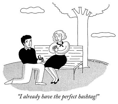Social Media Drawing - I Already Have The Perfect Hashtag by Elisabeth McNair