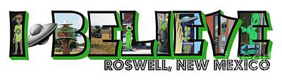 Photograph - I Believe Roswell New Mexico Big Letter by Colleen Cornelius