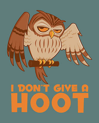 Royalty-Free and Rights-Managed Images - I Dont Give A Hoot Owl by John Schwegel