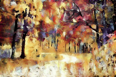 Mixed Media - I Dream Of Fall by Susan Maxwell Schmidt