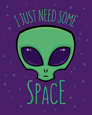 Royalty-Free and Rights-Managed Images - I Just Need Some Space Alien by John Schwegel