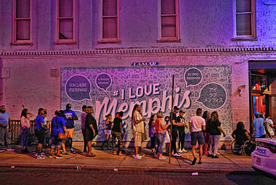 Photograph - I Love Memphis Mural by Allen Beatty