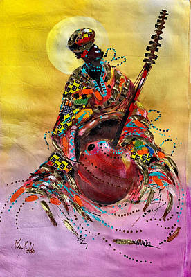 Painting - I Love Music by James Nii Addo
