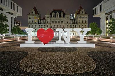 Photograph - I Love Ny by Brad Wenskoski
