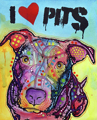 Painting - I Love Pits by Dean Russo Art