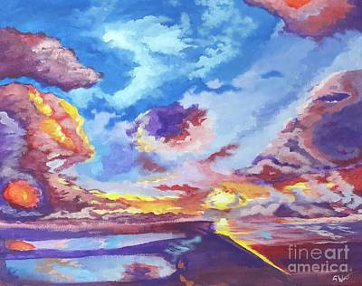 Painting - I Love You Clouds by Stephon Wright