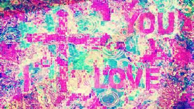 I Love You Jesus Art Print