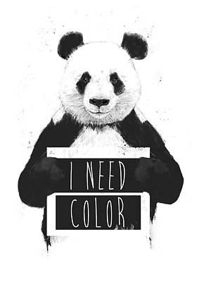 Wildlife Mixed Media - I Need Color by Balazs Solti