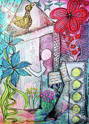 Mixed Media - I Opened The Curtain And There Was Spring  by Mimulux patricia No