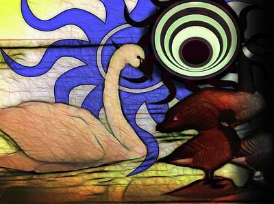 Digital Art - I Thought It Was A Swan by Cindy Boyd