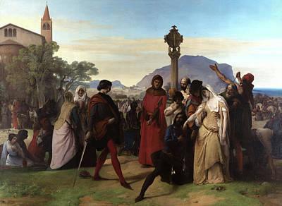 Verdi Wall Art - Painting - Sicilian Vespers by Francesco Hayez