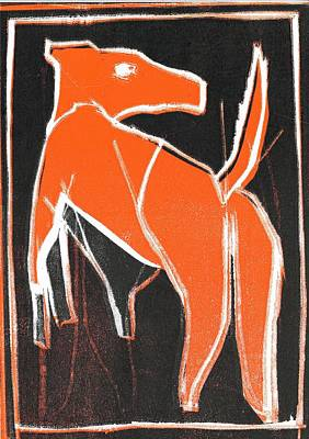 Relief - I Was Born In A Mine Orange Dog 33 by Artist Dot