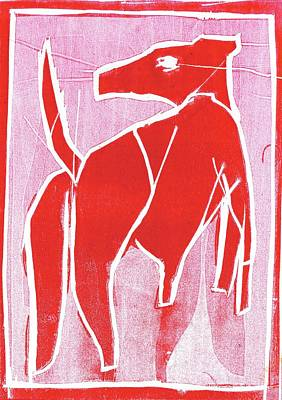 Relief - I Was Born In A Mine Red Dog 34 by Artist Dot