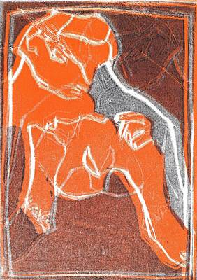 Relief - I Was Born In A Mine Woodcut 16 by Artist Dot