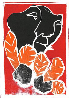 Relief - I Was Born In A Mine Woodcut 35 by Artist Dot
