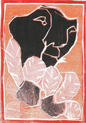 Relief - I Was Born In A Mine Woodcut 40 by Artist Dot