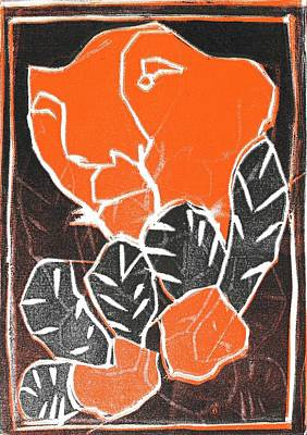 Relief - I Was Born In A Mine Woodcut 42 by Artist Dot