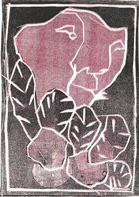 Relief - I Was Born In A Mine Woodcut 43 by Artist Dot