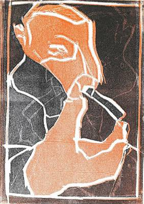 Relief - I Was Born In A Mine Woodcut 75 by Artist Dot