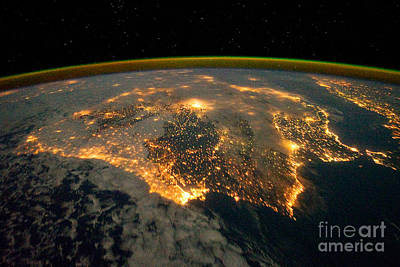 Photograph - Iberian Peninsula From Space by NASA Johnson Space Center