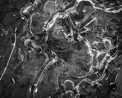 Photograph - Ice Abstraction I Bw by David Gordon
