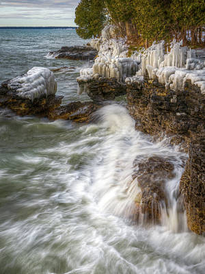 Photograph - Ice And Waves by Brad Bellisle