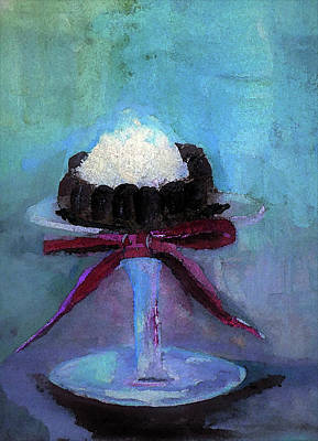 Digital Art - Ice Cream Brownie Treat Painting by Lisa Kaiser