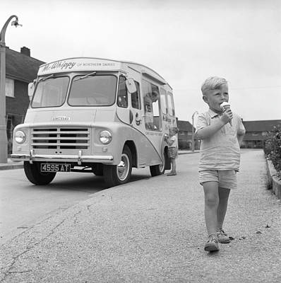 Photograph - Ice Cream Van by Bert Hardy Advertising Archive