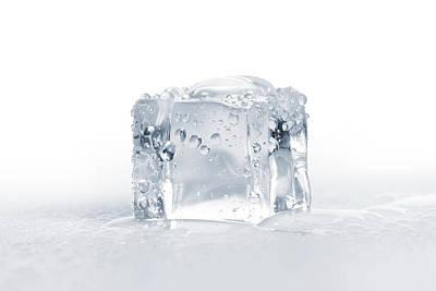 Ice Cubes Art Print by Sbayram